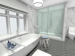 modern white bathroom ideas. Unique Ideas Modern White Bathroom Design Idea With Herringbone Tile Flooring Inside White Bathroom Ideas S