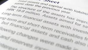 balance sheet percent change ysis