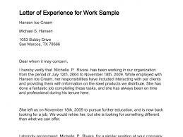 Experience Letter Sample Format Joele Barb