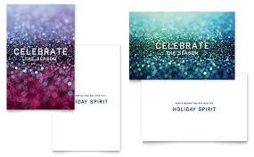 Glittering Celebration Greeting Card Template Design