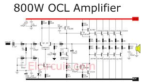 watt power amplifier ocl audio schematic abs 800 watt power amplifier ocl