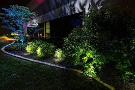 in ground lighting. LED In Ground Well Light - 9 X 1W High Power RGB LEDs- Installed Below Tree  (Lights Bushes-GLUX-x3W-S30) In Ground Lighting