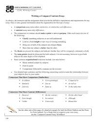 Compare And Contrast Essay Sample College Compare Contrast Essay Examples College Ceolpub
