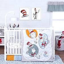 dr seuss crib set trend lab classic cat in the hat 3 piece crib bedding set