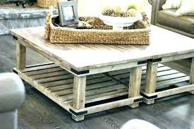 coffee table with baskets under