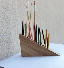 pencil holder pen holder wooden desk by colortimebylairam on