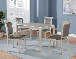 image unavailable image not available for color roundhill furniture t215 c215 c215 avignor 5 piece contemporary simplicity dining set with