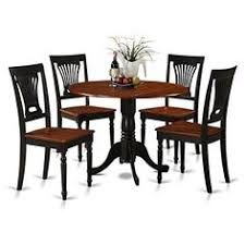 east west furniture dublin 5 piece drop leaf dining table set with plainview wooden seat chairs ermilk cherry finish