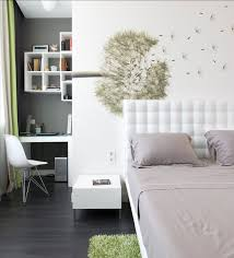 Collect this idea This bedroom includes a small study space and a cool wall  mural