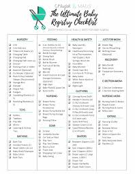 baby item checklist your ultimate baby registry checklist find out the items you