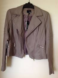 women s new a n a new approach faux leather jacket motorcycle small grey