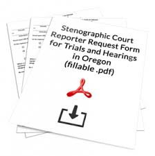 Court Reporter Request Form For Trials In Oregon Courts