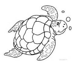 Small Picture Sea Turtle Swimming Coloring Pages For Kids Baby sea turtle