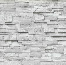 3D Effect Brick Wallpaper Grey White ...