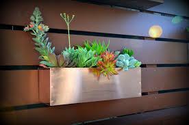 garden planter boxes on wall