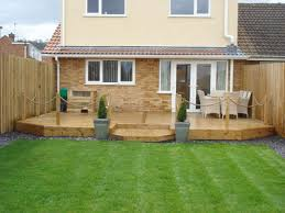 Small Picture Beautiful Garden Ideas With Decking And Decor