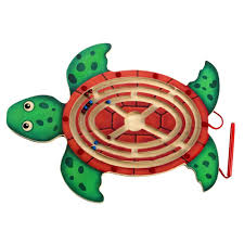 Wooden Maze Games Kids Educational Magnetic Turtle Maze Game 46
