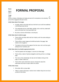 Official Proposal Template Template Formal Proposal Template 6