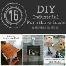 Industrial Furniture: 16 DIY Metal Home Decor Ideas
