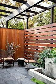 Horizontal Wood Fence Horizontal Wood Fence Patio Modern With Deck