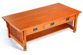 mission oak 3 drawer coffee table ac9170