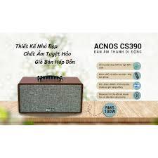 Dàn karaoke di động Acnos CS390. Loa bluetooth di động acnos sơn ca hát  karaoke 2 mic không dây. Hàng Chính Hãng