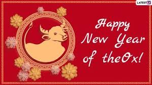 Happy chinese new year of the ox 2021 greeting card. Nenw Wkh5xikdm