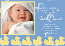 Rubber Duck Birth Announcements By 123print