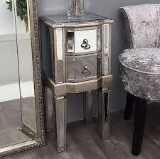 venetian mirrored glass side nightstand table acrylic nightstand with storage find complete details about venetian mirrored glass side nightstand