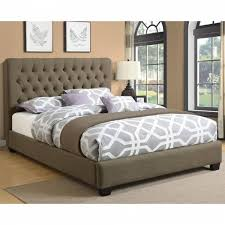 beds california king chloe upholstered bed with tufted headboard