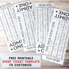 Sample Tickets Template Event Ticket Template Templates For Word