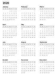Printable Calendars For 2020 Free Printable Calendar 2020 Template In Pdf Word Excel
