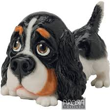 arora design little paws cavalier king charles dog figurine