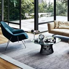 platner furniture. Furniture, Black Round Niminalist Contemporary Glass Top Platner Coffee Table Designs Ideas As Living Room Furniture