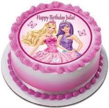 Barbie Princess And The Popstar 1 Edible Birthday Cake Topper Or