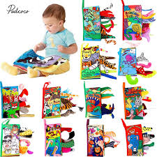 <b>Kids</b> 3D Animal Tails <b>Cloth</b> Book <b>2019 New Baby</b> Puzzle Toy ...