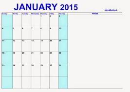 Calendar Blank 2015 Free Printable Calendar Blank Calendar January 2015