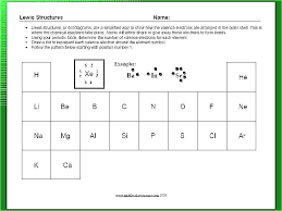 Lewis Structure Worksheets With Answers Atom Diagram Worksheets