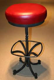 red leather bar stools. Interesting Red Leather Bar Stools Forged Metal Stool With Upholstered Dark