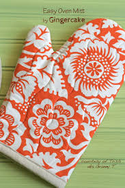 Oven Mitt Pattern Awesome Tutorial Oven Mitt Found In A Box Of Gifted Fabrics Gingercake