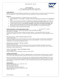 Extraordinary Sap Project Manager Resume India With Additional