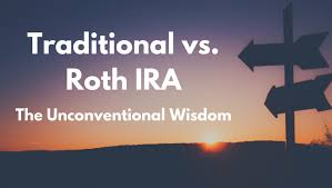 Traditional Versus Roth Ira Comparison Chart Traditional Vs Roth Ira The Unconventional Wisdom Mom