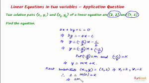solutions of linear equation in two variables linear equation solution critical thinking 1
