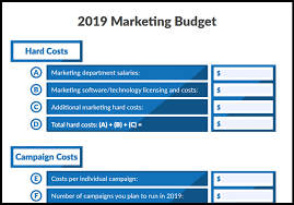 Marketing Budget Plan 7 Free Marketing Budget Templates Marketing Com Au