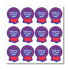 I Know My 10 Times Table Maths Stickers
