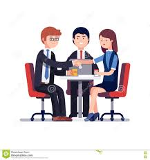 Successful Business Meeting Or Job Interview Stock Vector Image