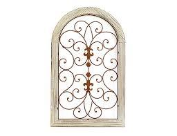 house decoration wall decoration window filo frame wood lattice metal h81w50cm