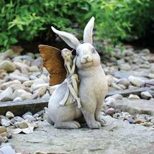 garden fairy statues. Fairy Statues For Garden And Rabbit Statue Enchanted Lawn Figurine Perth I