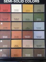 Sherwin Williams Stain Chart Sherwin Williams Semi Solid Stains For Deck Fence In 2019