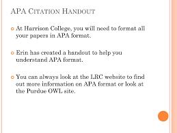 Ppt Apa Citation Powerpoint Presentation Id5431705